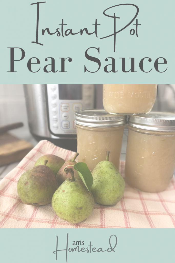 Homemade Pear Sauce in the Instant Pot